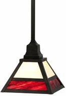 Meyda Tiffany 113386 Square Stickley Mission 11 Inch Wide Transitional Lighting Pendant