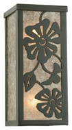 Meyda Tiffany 113748 Morning Glory 10 Inch Tall Timeless Bronze Floral Wall Sconce