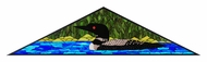 Meyda Tiffany 113879 Loon Triangle 14 Inch Tall Stained Glass Window Home D�cor