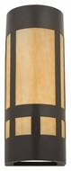 Meyda Tiffany 114090 Van Erp Mission Timeless Bronze Finish 18 Inch Tall Lighting Sconce