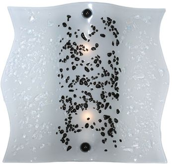 Meyda Tiffany 114170 Ice Age Fused Glass 11 Inch Tall Contemporary Sconce Lighting Fixture