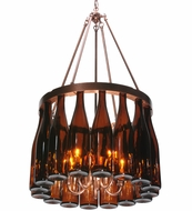 Meyda Tiffany 114513 Tuscan Vineyard Villa Amber 16 Wine Bottle Chandelier