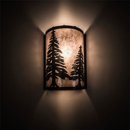 Meyda Tiffany 114681 Tall Pines Country Timeless Bronze Wall Lighting Fixture
