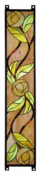 Meyda Tiffany 114712 Mackintosh Rose 35 Inch Tall Stained Glass Wall Décor - Left