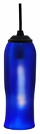 Meyda Tiffany 114901 Flared Frosted Blue Wine Bottle 13 Inch Tall Mini Hanging Light