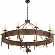 Meyda Tiffany 115623 Calandra Traditional Gilded Tobacco Chandelier Light