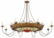 Meyda Tiffany 115675 Stanley 18 Candle Traditional Style 84 Inch Diameter Dining Room Chandelier