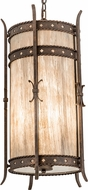 Meyda Tiffany 115759 Stanza Sable Acrylic Gilded Tobacco Foyer Lighting