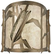 Meyda Tiffany 116623 Corn Country Antique Copper LED Sconce Lighting