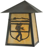 Meyda Tiffany 116860 Lake Clear Lodge Country Rust;Craftsman Brown Outdoor Sconce Lighting