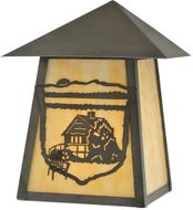 Meyda Tiffany 116861 Lake Clear Lodge Country Rust;Craftsman Brown Exterior Wall Lighting Fixture