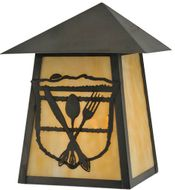 Meyda Tiffany 116862 Lake Clear Lodge Country Rust;Craftsman Brown Outdoor Wall Light Sconce