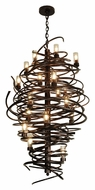 Meyda Tiffany 117475 Centric Contemporary Style 18 Lamp Chandelier Lighting Fixture