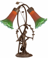 Meyda Tiffany 11805 Trellis Girl Lily Traditional Accent Lighting Table Lamp