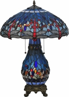 Meyda Tiffany 118840 Tiffany Hanginghead Dragonfly Table Lamp Lighting