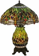 Meyda Tiffany 118845 Tiffany Hanginghead Dragonfly Tiffany Antique Brass Lighting Table Lamp