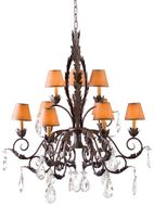 Meyda Tiffany 119077 Country French Traditional Crystal Ceiling Chandelier