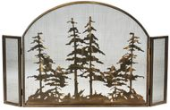 Meyda Tiffany 119082 Tall Pines Country Antique Copper Fireplace Screen