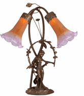 Meyda Tiffany 11923 Trellis Girl Lily Traditional Accent Table Top Lamp