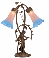 Meyda Tiffany 11943 Trellis Girl Lily Traditional Accent Table Lamp