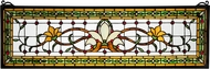 Meyda Tiffany 119444 Fairytale Transom Tiffany Patina Stained Glass Window