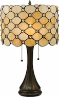 Meyda Tiffany 119589 Giacomo Tiffany Mahogany Bronze Side Table Lamp