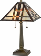 Meyda Tiffany 119641 Prairie Wheat Tiffany Mahogany Bronze Table Lamp