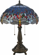 Meyda Tiffany 119650 Tiffany Hanginghead Dragonfly Mahogany Bronze Table Light