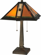Meyda Tiffany 119654 Montana Mission Tiffany Mahogany Bronze Table Lighting