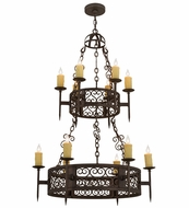 Meyda Tiffany 120164 Toscano Gilded Tobacco Chandelier Light