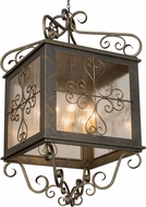 Meyda Tiffany 120267 Myra Traditional French Bronze / Clear Seedy Glass Drop Ceiling Lighting