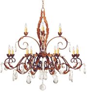 Meyda Tiffany 120354 Country French Traditional Crystal Ceiling Chandelier