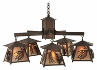 Meyda Tiffany 120554 Stillwater Scotch Pine Cafe Noir Finish 145  Tall Exterior Chandelier Lamp