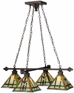 Meyda Tiffany 122603 Prairie Wheat Tiffany Mahogany Bronze Ceiling Chandelier