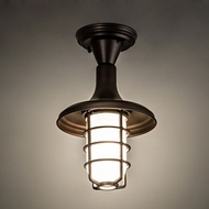 Meyda Tiffany 123959 Bellevue Modern Mahogany Bronze Flush Mount Light Fixture