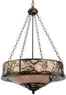 Meyda Tiffany 124801 Whispering Pines Country Antique Copper Ceiling Light Pendant