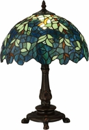 Meyda Tiffany 124813 Nightfall Wisteria Tiffany Mahogany Bronze Table Light