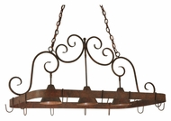 Meyda Tiffany 125092 Elana 3 Lamp 46 Inch Wide Pot Rack Island Lighting