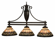 Meyda Tiffany 125111 Ilona Tiffany 3 Lamp 45 Inch Wide Kitchen Island Light Fixture