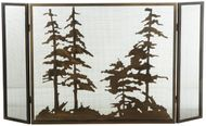 Meyda Tiffany 126060 Tall Pines Country Antique Copper Fireplace Screen