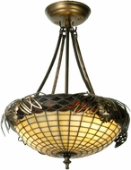 Meyda Tiffany 12697 Whispering Pines Tiffany Antique Copper Ceiling Lighting