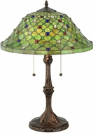 Meyda Tiffany 127424 Diamond & Jewel Tiffany Table Lamp Lighting