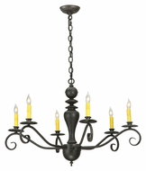 Meyda Tiffany 127878 Emory 33 Inch Diameter 6 Candle Chandelier Light Fixture