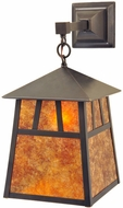 Meyda Tiffany 128874 Stillwater Double Bar Mission Craftsman 16  Tall Outdoor Wall Sconce Light