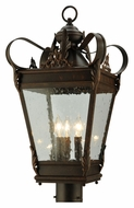 Meyda Tiffany 129190 Verona Exterior 12.5 Inch Wide Square Traditional Candle Post Lamp Light