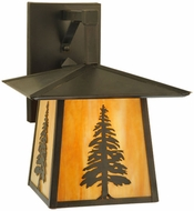 Meyda Tiffany 129499 Stillwater Tall Pine 12  Wide Exterior Wall Lamp