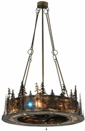 Meyda Tiffany 130184 Tall Pines Country 71.5 Tall Hanging Chandelier