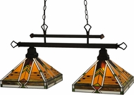 Meyda Tiffany 130752 Abilene Tiffany Mahogany Bronze Island Lighting