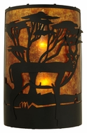 Meyda Tiffany 130873 Amber Mica 18 Inch Tall Antelope Scenery Lighting Sconce