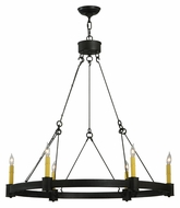 Meyda Tiffany 131085 Kenosha 6 Candle Traditional 35 Inch Diameter Hanging Chandelier